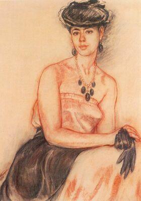 Валентина Токарева. Портрет Т. Борисовой, 1984 г.