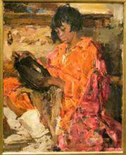 Выставка Американские художники из Российской империи в ГТГ. Николай Фешин. Индейская девушка с керамикой