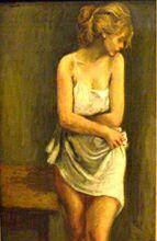 Выставка Американские художники из Российской империи в ГТГ. Рафаэль Сойер. Фигура блондинки