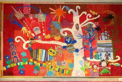 Лоскутные картины в московской галерее Беляево. Винниченко