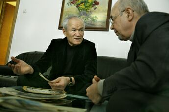 Масут Махмудович Фаткулин и Юрий Подпоренко. Фото - Виктор Ан