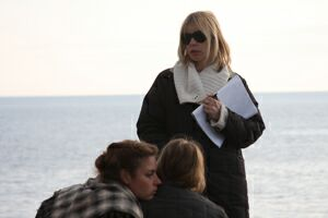 Актриса и режиссер Вера Глаголева. На съемках в Карелии. Фото из личного архива