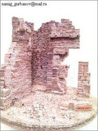 Намик Курбанов, Баку, Макеты зданий из картона: Старая крепость
