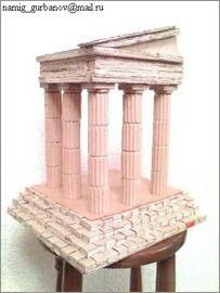 Намик Курбанов, Баку, Макеты зданий из картона: Старый памятник