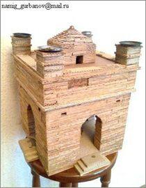 Намик Курбанов, Баку, Макеты зданий из картона: Храм Атешгях