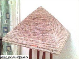Намик Курбанов, Баку, Макеты зданий из картона: Пирамида
