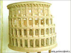 Намик Курбанов, Баку, Макеты зданий из картона: Колизей