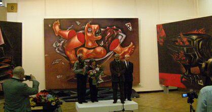 Выставка Леонида Полищука и Светланы Щербининой в ЦДХ - открытие. Фото Николая Ефремова