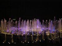 Ночь в музее - 2010. Москва, парк Царицыно (4)- светомузыкальный фонтан. Фото Николая Ефремова