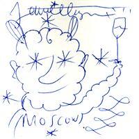 II Фестиваль Современного Испанского Дизайна - рисунок-автограф Хайме Айона для читателей Нового Вернисажа