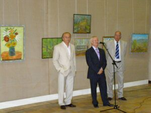 Выставка живописи Манучара Мачаидзе в ЦДХ - открытие
