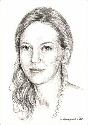 Актриса Елена Пирогова-Филиппова. Рисунок Марины Ефремовой