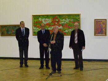 Открытие выставки туркменского художника Бердигулы Амансахатова в ЦДХ - выступает Марк Розовский. Фото Николая Ефремова