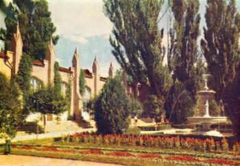 Кисловодск, Нарзанная галерея (1962 г.). Фото Г. Бакмана