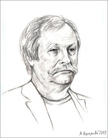 Председатель Творческого Союза художников, Заслуженный художник России Константин Худяков. Рисунок Марины Ефремовой