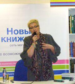 Новый книжный на Сухаревке, Презентация книги Татьяны Устиновой С небес на землю. Фото Николая Ефремова