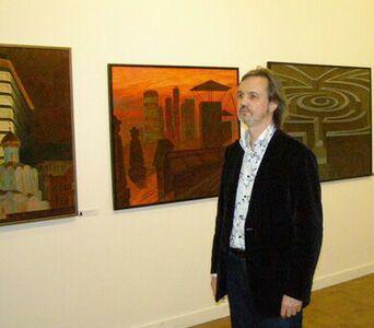 XIV Московский международный художественный салон ЦДХ-2011 - Председатель Союза художников России Андрей Ковальчук
