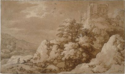 Алларт ван Эвердинген. Пейзаж с замком на холме