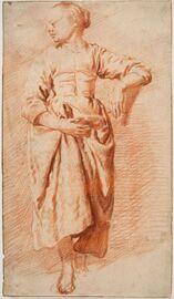 Адриан ван де Велде. Этюд женщины в крестьянском платье