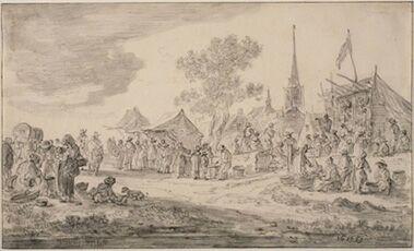 Ян ван Гойен. Ярмарка в деревне
