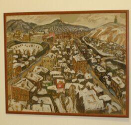 Андрей Поздеев, Вид на зимний город