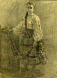 В. Дмитриевский, Девушка в национальном костюме