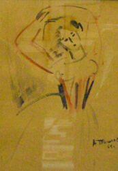 А. Г. Тышлер, Танец, 1964 г., бумага, акварель