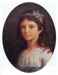 М.-А.-С. Пьер де Валлеруа в возрасте восьми лет, племянница Ж. Антони, 1796, холст, масло