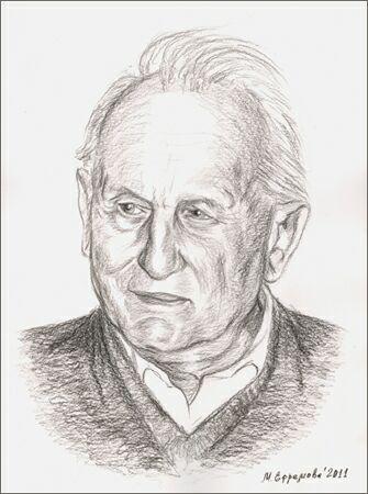 Писатель Рольф Хоххут. Рисунок Марины Ефремовой