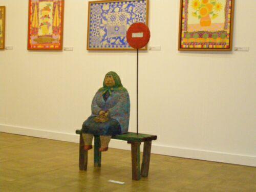 Инсталляция на стенде Киевской организации Национального союза художников Украины (КОНСХУ)